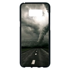 Hurricane Samsung Galaxy S8 Plus Black Seamless Case by AnjaniArt