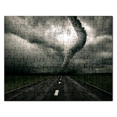 Hurricane Rectangular Jigsaw Puzzl by AnjaniArt