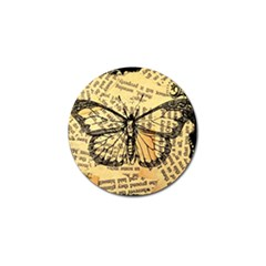 Vintage Butterfly Art Antique Golf Ball Marker (4 Pack) by AnjaniArt