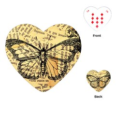 Vintage Butterfly Art Antique Playing Cards (heart)