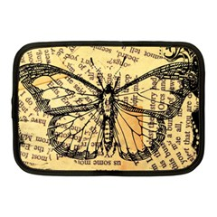 Vintage Butterfly Art Antique Netbook Case (medium) by AnjaniArt