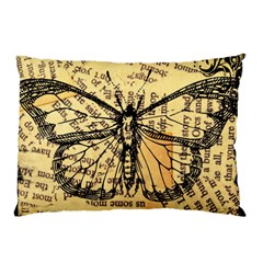 Vintage Butterfly Art Antique Pillow Case by AnjaniArt