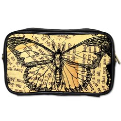Vintage Butterfly Art Antique Toiletries Bag (one Side) by AnjaniArt