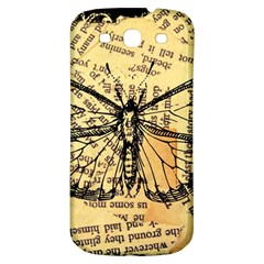 Vintage Butterfly Art Antique Samsung Galaxy S3 S Iii Classic Hardshell Back Case