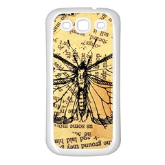 Vintage Butterfly Art Antique Samsung Galaxy S3 Back Case (white)
