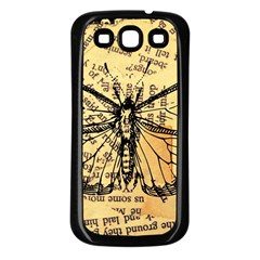 Vintage Butterfly Art Antique Samsung Galaxy S3 Back Case (black)