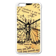Vintage Butterfly Art Antique Apple Iphone 6 Plus/6s Plus Enamel White Case by AnjaniArt