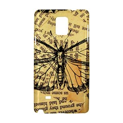 Vintage Butterfly Art Antique Samsung Galaxy Note 4 Hardshell Case by AnjaniArt
