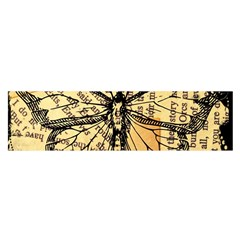 Vintage Butterfly Art Antique Satin Scarf (oblong) by AnjaniArt