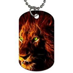 King Lion Wallpaper Animals Dog Tag (two Sides) by AnjaniArt