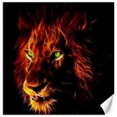 King Lion Wallpaper Animals Canvas 20  X 20  by AnjaniArt