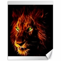 King Lion Wallpaper Animals Canvas 18  X 24  by AnjaniArt