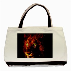 King Lion Wallpaper Animals Basic Tote Bag (two Sides) by AnjaniArt