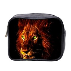 King Lion Wallpaper Animals Mini Toiletries Bag (two Sides)