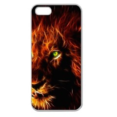 King Lion Wallpaper Animals Apple Seamless Iphone 5 Case (clear) by AnjaniArt