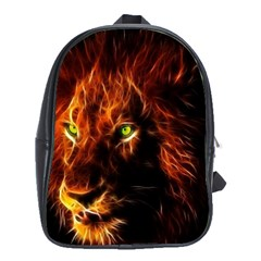 King Lion Wallpaper Animals School Bag (xl)