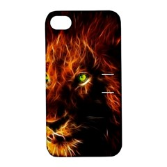 King Lion Wallpaper Animals Apple Iphone 4/4s Hardshell Case With Stand by AnjaniArt