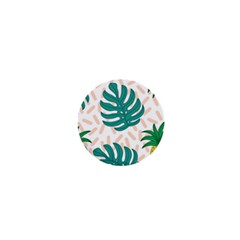 Green Leaf Fruite Pineapples 1  Mini Buttons
