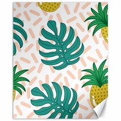 Green Leaf Fruite Pineapples Canvas 11  X 14