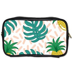 Green Leaf Fruite Pineapples Toiletries Bag (one Side)