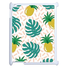 Green Leaf Fruite Pineapples Apple Ipad 2 Case (white)