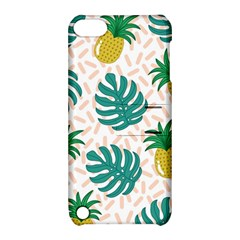 Green Leaf Fruite Pineapples Apple Ipod Touch 5 Hardshell Case With Stand by AnjaniArt
