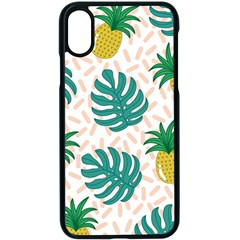 Green Leaf Fruite Pineapples Apple Iphone X Seamless Case (black) by AnjaniArt
