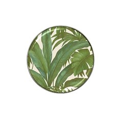 Green Palm Leaf Wallpaper Hat Clip Ball Marker (4 Pack)