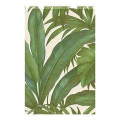 Green Palm Leaf Wallpaper Shower Curtain 48  X 72  (small)