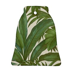 Green Palm Leaf Wallpaper Ornament (bell)