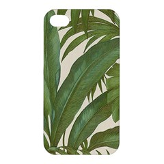 Green Palm Leaf Wallpaper Apple Iphone 4/4s Hardshell Case by AnjaniArt