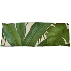 Green Palm Leaf Wallpaper Body Pillow Case Dakimakura (two Sides) by AnjaniArt