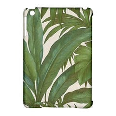 Green Palm Leaf Wallpaper Apple Ipad Mini Hardshell Case (compatible With Smart Cover) by AnjaniArt