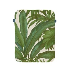 Green Palm Leaf Wallpaper Apple Ipad 2/3/4 Protective Soft Cases by AnjaniArt