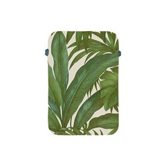 Green Palm Leaf Wallpaper Apple Ipad Mini Protective Soft Cases by AnjaniArt