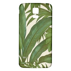 Green Palm Leaf Wallpaper Samsung Galaxy S5 Back Case (white)