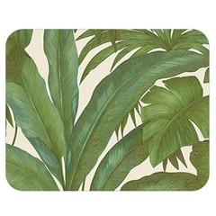 Green Palm Leaf Wallpaper Double Sided Flano Blanket (medium)