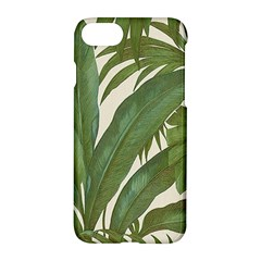 Green Palm Leaf Wallpaper Apple Iphone 7 Hardshell Case by AnjaniArt