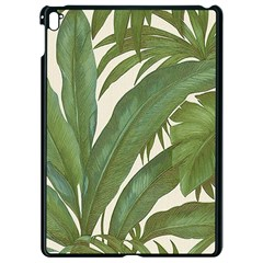 Green Palm Leaf Wallpaper Apple Ipad Pro 9 7   Black Seamless Case by AnjaniArt