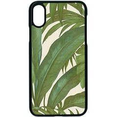 Green Palm Leaf Wallpaper Apple Iphone X Seamless Case (black) by AnjaniArt