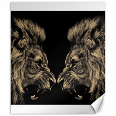 King Abstract Lion Painting Canvas 20  X 24  by AnjaniArt