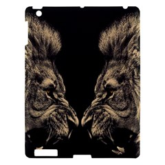 King Abstract Lion Painting Apple Ipad 3/4 Hardshell Case by AnjaniArt