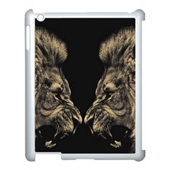 King Abstract Lion Painting Apple Ipad 3/4 Case (white)