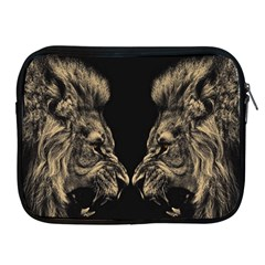 King Abstract Lion Painting Apple Ipad 2/3/4 Zipper Cases by AnjaniArt