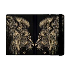 King Abstract Lion Painting Ipad Mini 2 Flip Cases by AnjaniArt