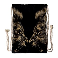 King Abstract Lion Painting Drawstring Bag (large) by AnjaniArt