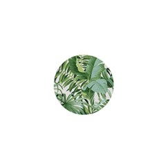 Green Palm Leaf Wallpaper Alfresco Palm Leaf Wallpaper 1  Mini Magnets by AnjaniArt