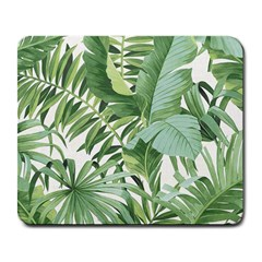Green Palm Leaf Wallpaper Alfresco Palm Leaf Wallpaper Large Mousepads by AnjaniArt