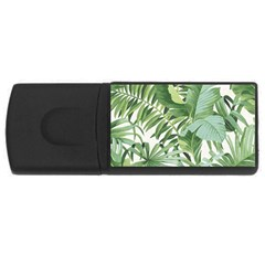 Green Palm Leaf Wallpaper Alfresco Palm Leaf Wallpaper Rectangular Usb Flash Drive by AnjaniArt