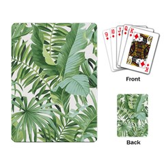 Green Palm Leaf Wallpaper Alfresco Palm Leaf Wallpaper Playing Cards Single Design by AnjaniArt